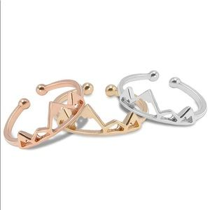 ROSE GOLD/GOLD OR SILVER ADJUSTABLE MOUNTAIN RING